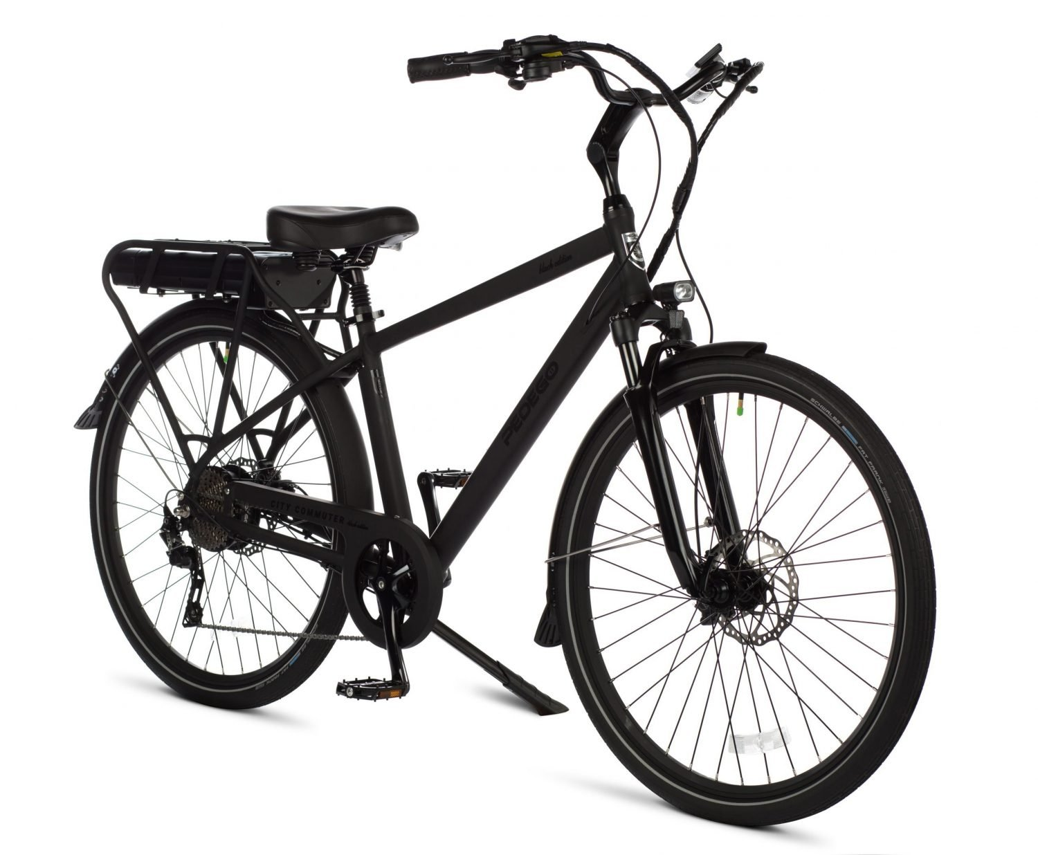 Pedego city commuter classic black front right