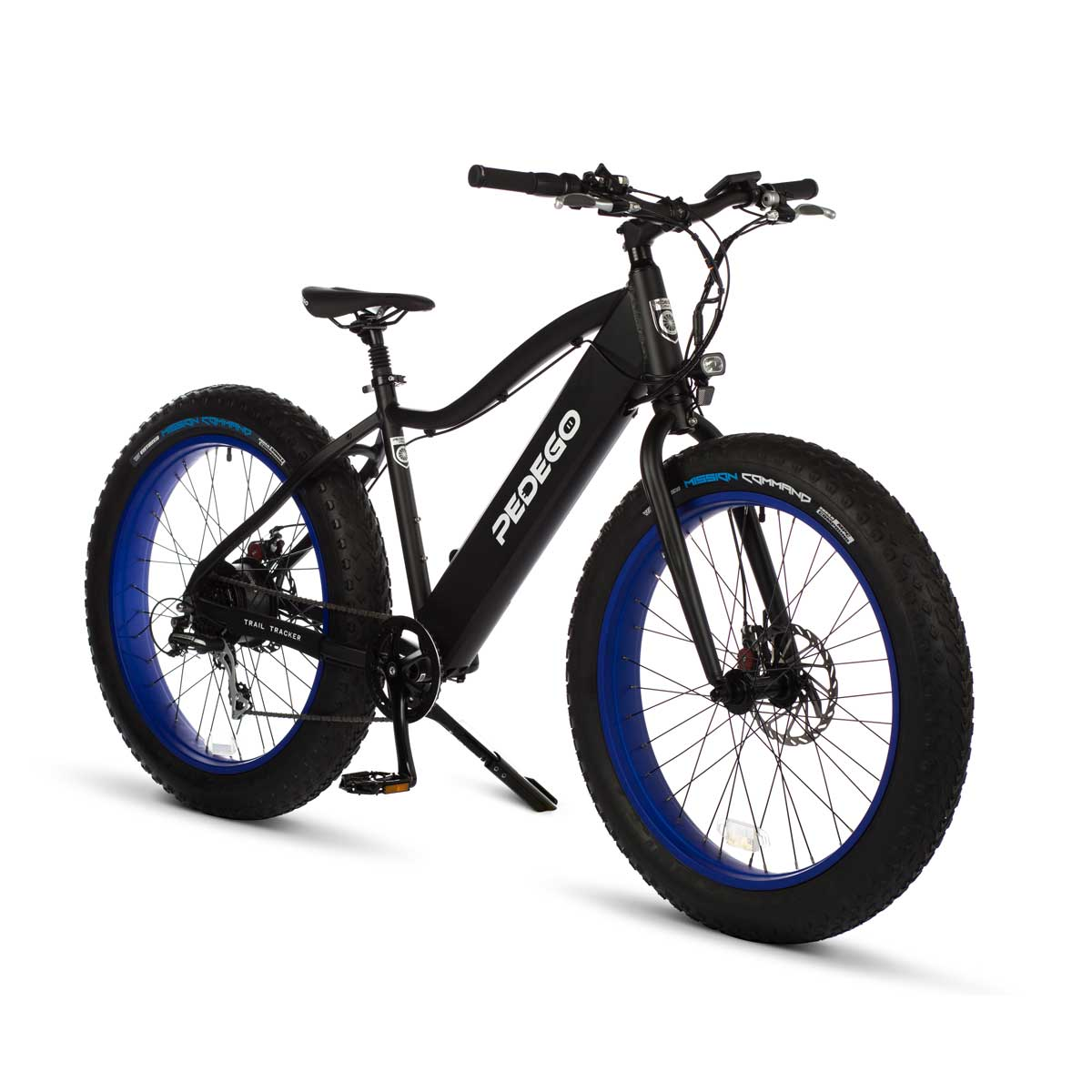 Pedego trail tracker black blue