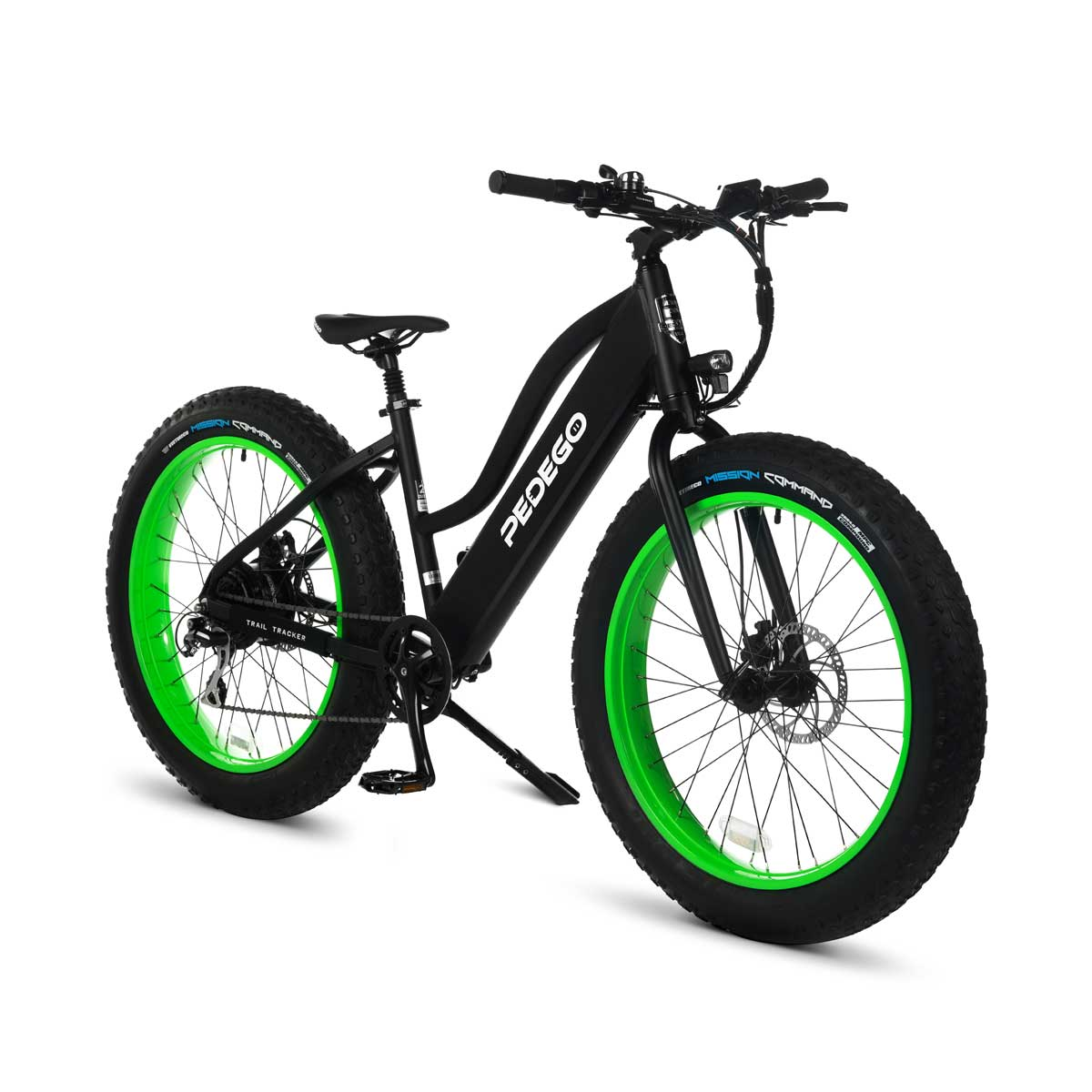 Pedego trail tracker lime green